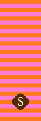 Yoga Mats - Pink and Orange Rugby II