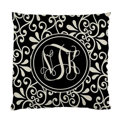 Pillow-Black and Khaki Swirl