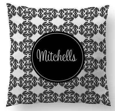 Pillow-Black and Whie Frilly