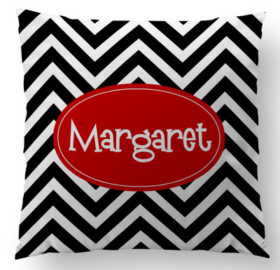 Pillow-Black White Chevron