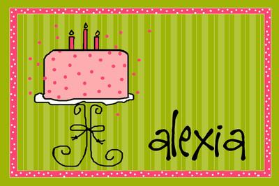 Placemat- Girly Birthday