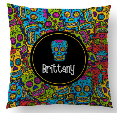 Pillow-Comic Skulls