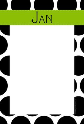 Fatpad-BW Polka Dot