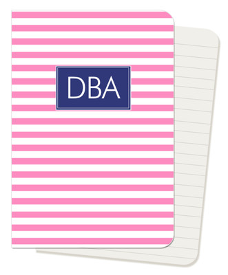 Mini Journals -Pink Stripe
