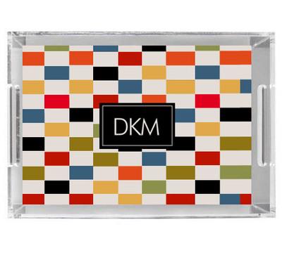 Acrylic Tray- Color Blocks