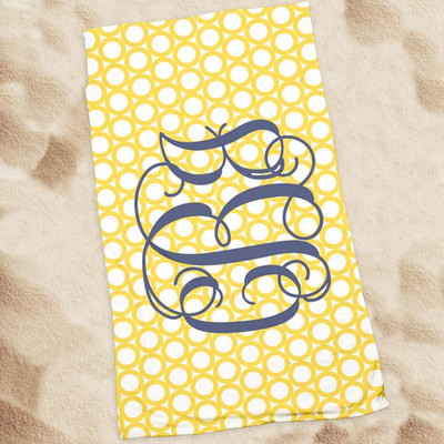Beach Towel-Yellow RIngs