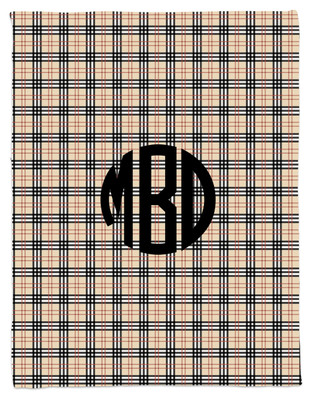 Blanket- Black and Khaki Plaid