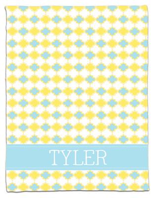 Blanket- Baby Blue and Yellow Clover