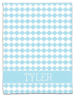 Blanket- Baby Blue Clover