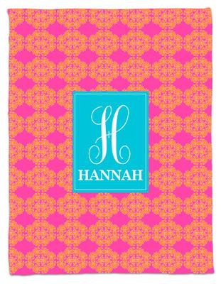 Blanket- Hot Pink and Orange Frilly