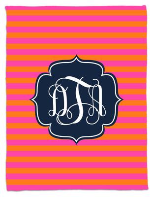 Blanket- Hot Pink and Orange Stripe