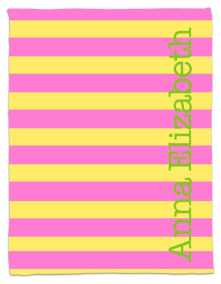 Blanket- Pink and Lemon Stripe