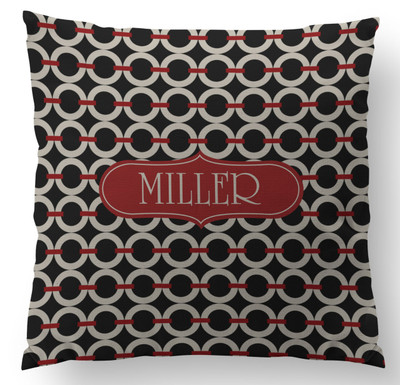 Pillow- Equestrian Links-Black Khaki