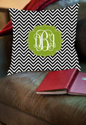 Pillow- Black and White Chevron