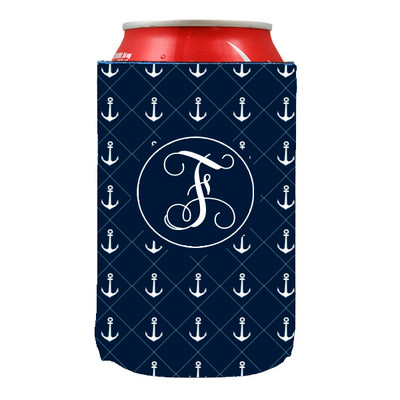 Can Koozie-Navy Anchors