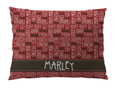 Dog Bed-All About Dogs-Cranberry