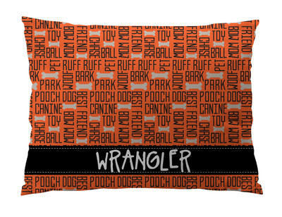 Dog Bed-All About Dogs-Orange