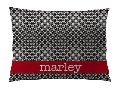 Dog Bed-Black and Ivory Waves