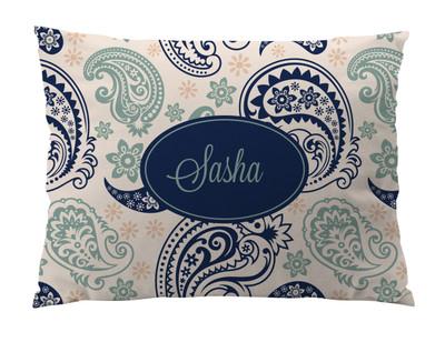 Dog Bed-Blue Jade Paisley