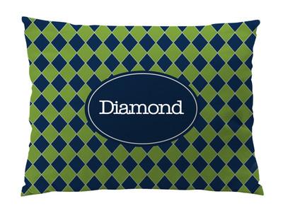 Dog Bed-Diamond Navy Prep