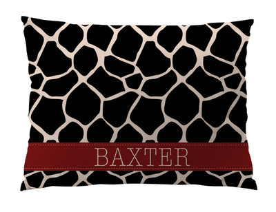 Dog Bed-Giraffe-Black