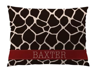 Dog Bed-Giraffe-Chocolate