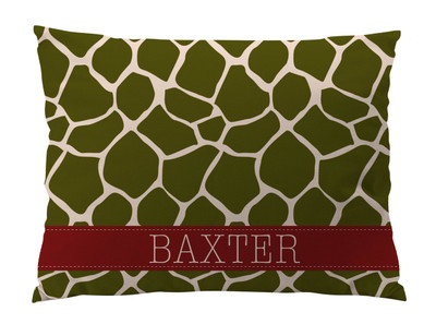 Dog Bed-Giraffe-Olive