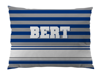 Dog Bed-NAVY and GRAY RUGBY