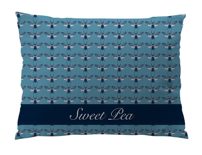 Dog Bed-Bees Navy