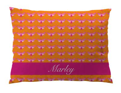Dog Bed-Bees Pink Mango