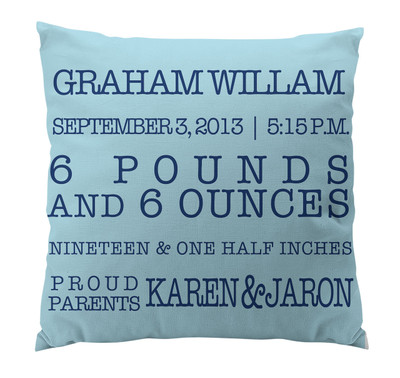 Pillow-Birth Announcement III