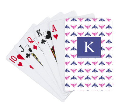 Playing Cards-Navy and Pink Bees