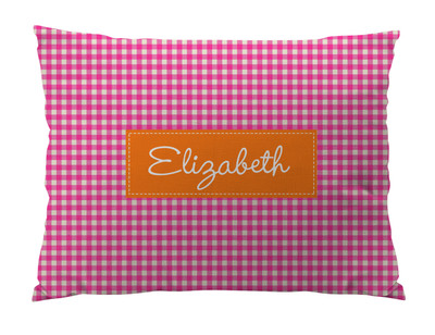 Floor Pillow- Pink GIngham