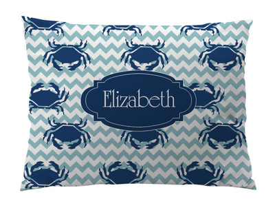 Floor Pillow- Blue Crab Chevron