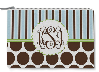 Accessory Zip Pouch- Earthpop Chocolate Dots