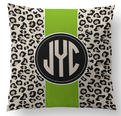 Pillow- Leopard Pea Stripe