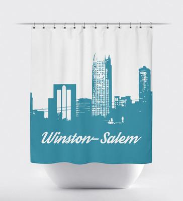 Shower Curtain- Winston Salem Turquoise