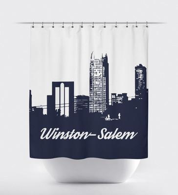 Shower Curtain- Winston Salem Navy