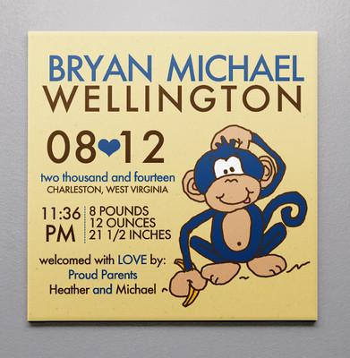 Birth Canvas- Monkey Boy