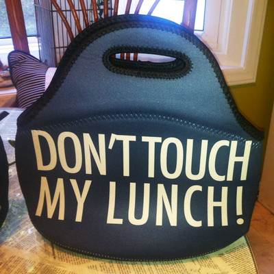Lunch Tote- Don't Touch My Lunch-Navy II