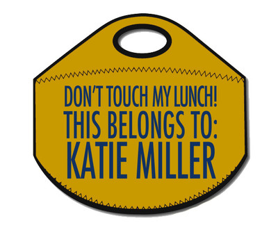 Lunch Tote- Don't Touch My Lunch-Mustard