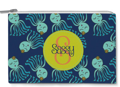 Accessory Zip Pouch- Sassy Octopus