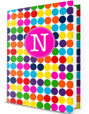 Custom Journal-Crazy Dots