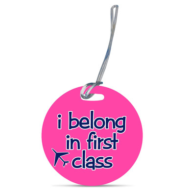 Round Luggage Tag-First Class