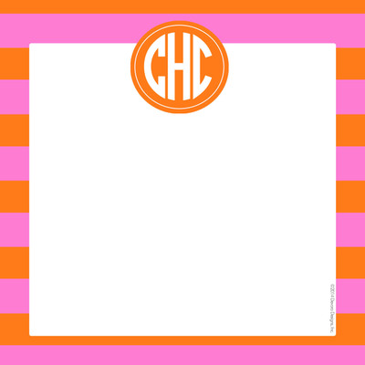 Scribble Square-Pink and Orange Rugby