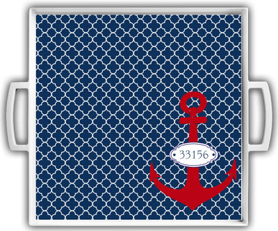Cocktail Tray - Nautical Zip