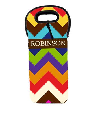 Wine Tote - Color Chevron