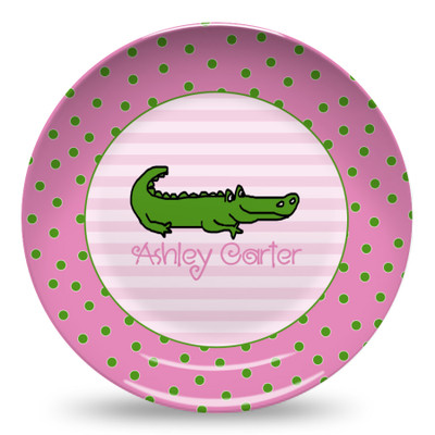 Microwave Safe Dinnerware Plate-Alligator Dots