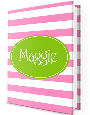 Custom Journal-Pink Stripes