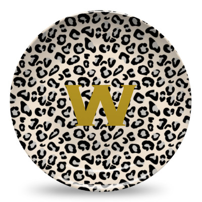 Microwave Safe Dinnerware Plate-Leopard Black and Khaki